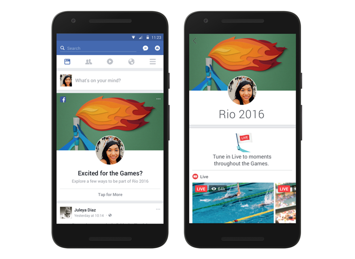 Lähde: https://techcrunch.com/2016/08/03/facebook-rolls-out-a-personalized-olympics-section-in-the-news-feed-plus-olympic-filters-and-frames/